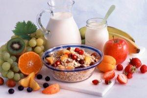 Питание должно включать злаки, овощи и фрукты