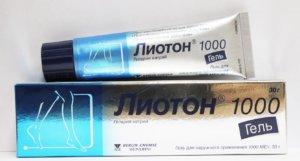 Лиотон гель оказывает противоотечное, противовоспалительное и антикоагулянтной действие