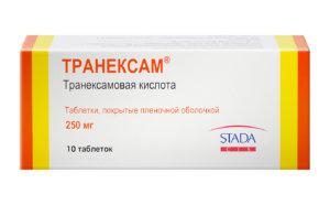 Препарат оказывает специфическое антифибринолитическое действие
